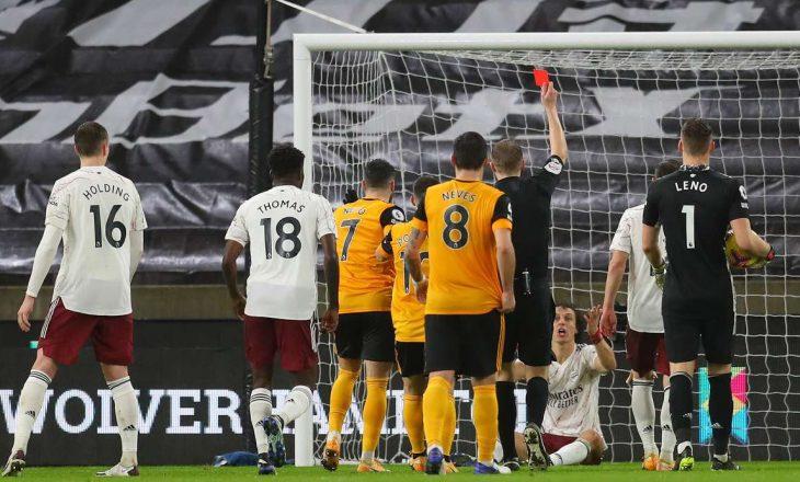 Dy karton të kuq dhe disfatë për Arsenal në sfidën ndaj Wolves