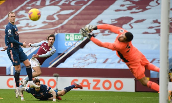 Arsenal humb minimalisht te Aston Villa