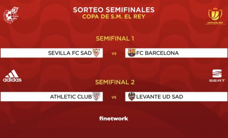 Gjysmëfinalet e Kupës së Mbretit, Sevilla vs Barcelona ndeshja më interesante