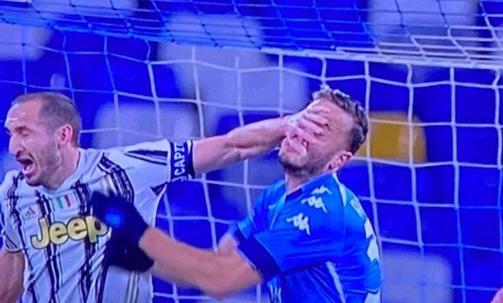 Rrahmani nxori penalltinë, ndërsa Insigne e ktheu në gol