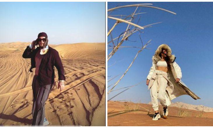 Në Dubai jo vetëm për pushime – Mozzik dhe Elvana po xhirojnë videoklip?