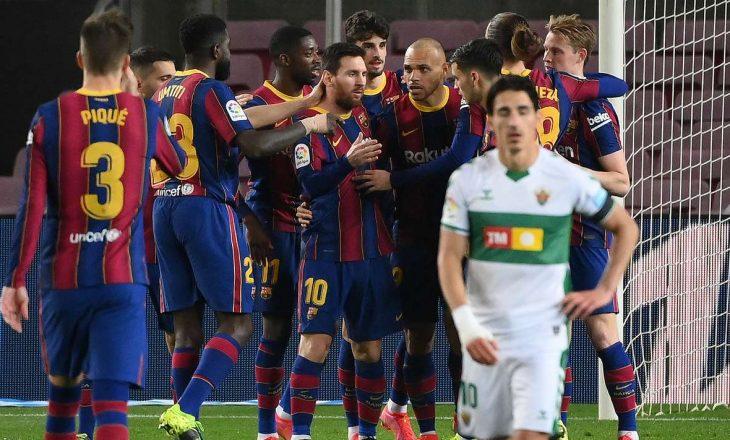 Barcelona i shkakton disfatë Elche-s në ndeshjen e mbetur të La Ligës