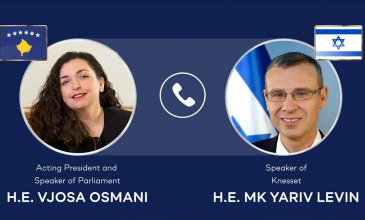 Osmani zhvillon bisedë telefonike me kryetarin e Kuvendit të Izraelit pas arritjes së marrëveshjes