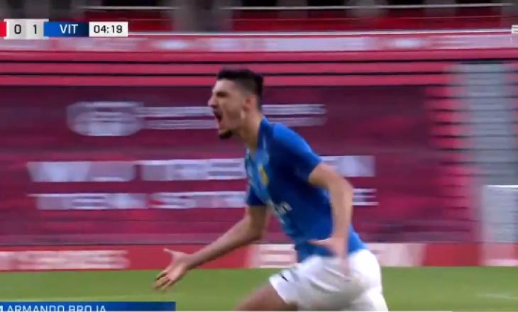 Armando Broja shënon gol për Vitese-n, e kalon në epërsi ndaj PSV-së