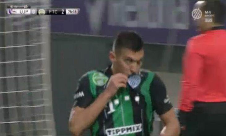 Myrto Uzuni shënon për Ferencvaros në fitoren e thellë ndaj Ujpest