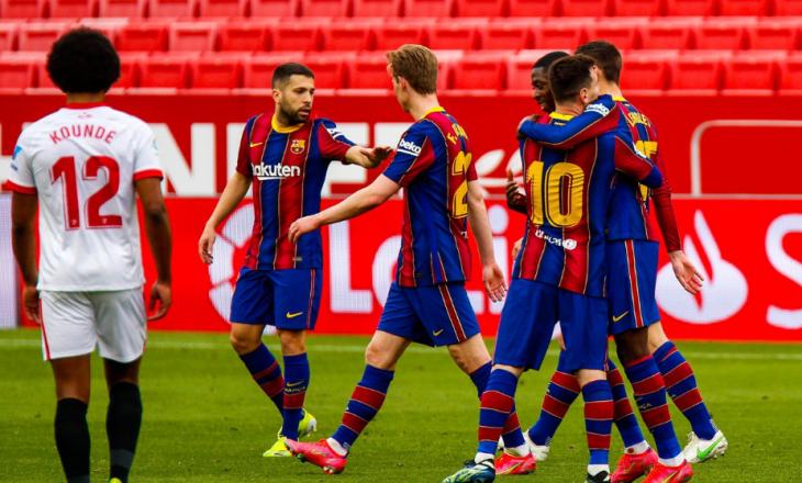 Sevilla pëson disfatë në shtëpi nga Barcelona