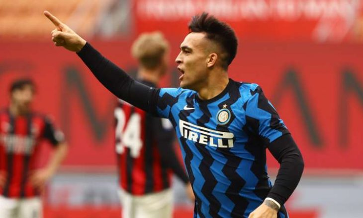 Inter në epërsi minimale pas pjesës së parë ndaj Milan-it