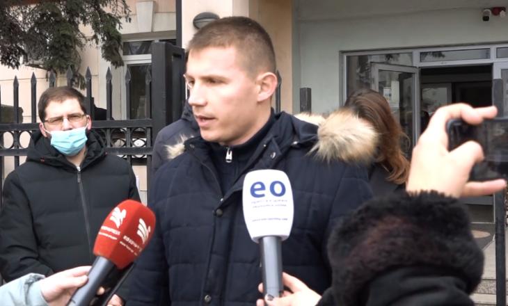 Specializantët nga Gjakova protestojnë para MSh-së