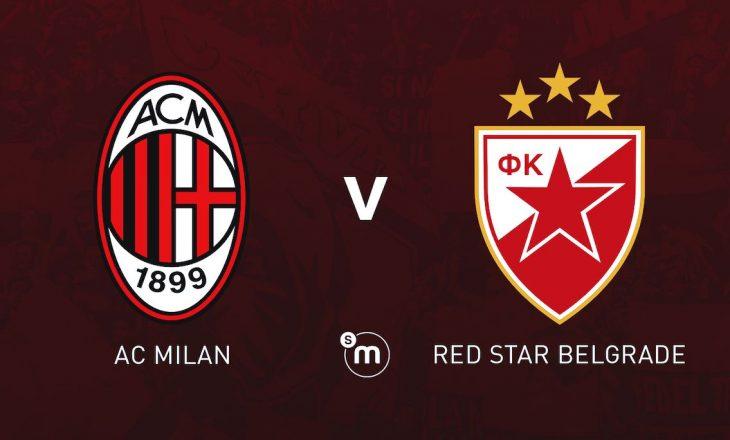 Formacionet zyrtare të sfidës Milan vs Crvena Zvezda