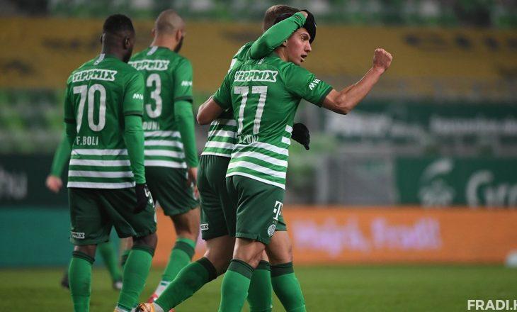 Myrto Uzuni shënon gol, i dhuron tre pikët Ferencvaros-it