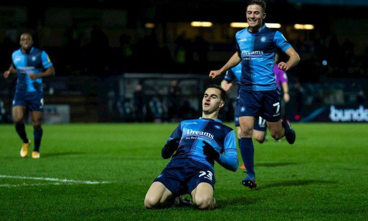 Anis Mehmeti shënon gol në fitoren e Wycombe-s në Championship-in anglez