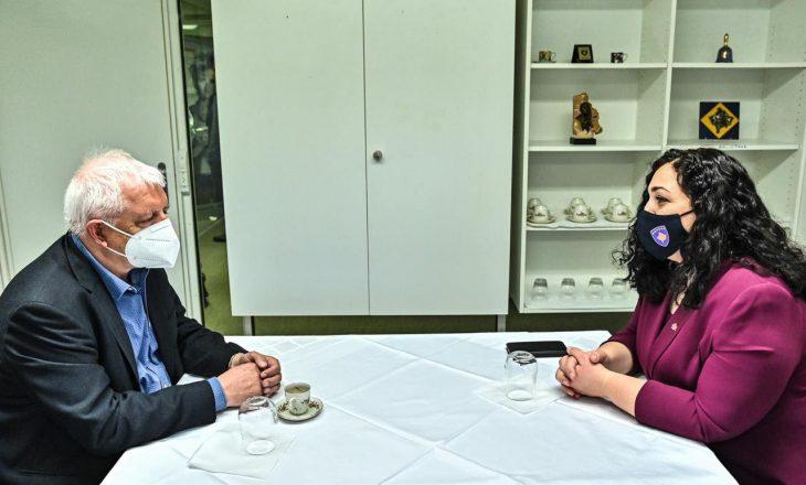 Presidentja në detyrë takohet me themeluesin e Universitetit Popullor Shqiptar në Zvicër