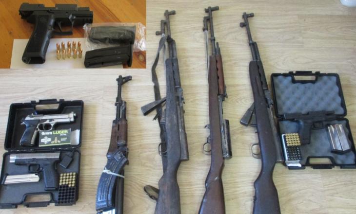 Arrestohen shtatë persona dhe konfiskohen tetë armë pa leje në Deçan