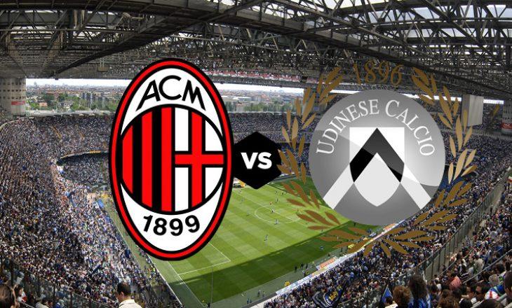 Milan vs Udinese – formacionet