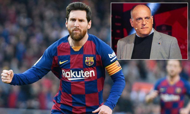 Presidenti i La Ligas këshillon Messin të qëndrojë te Barcelona
