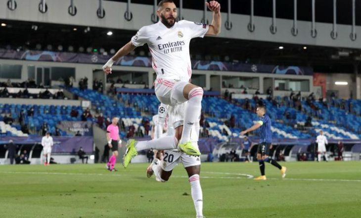 Reali fiton edhe ndeshjen e dytë, eliminon Atalantën nga Championsi