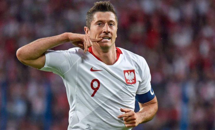 Polonia konfirmon lëndimin e Lewandowskit, mungon kundër Anglisë