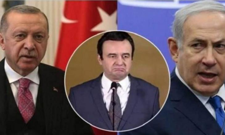 Kurti ia kthen letrën Erdoganit dhe Netanyahut