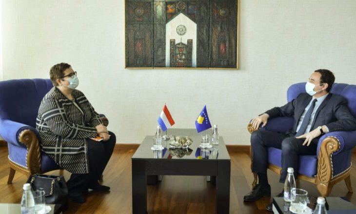 Kurti dhe ambasadorja holandeze bisedojnë për bashkëpunim të vazhdueshëm në këtë fushë