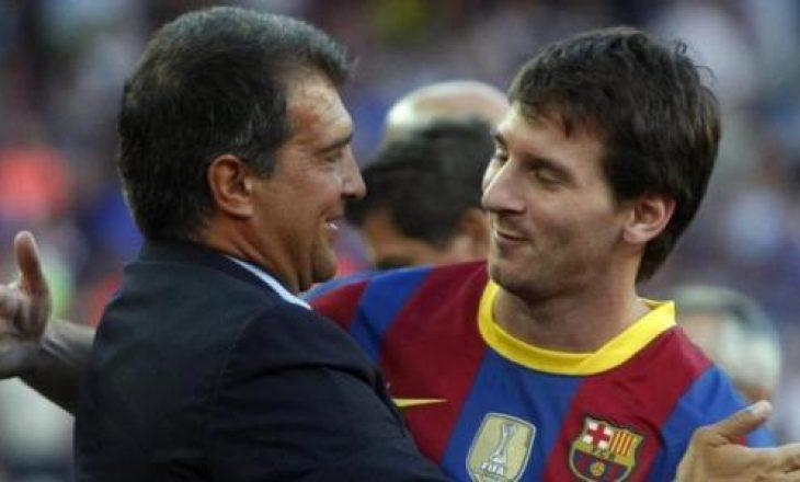 Laporta president i Barcelonës, rriten shpresat që Messi të qëndrojë në Camp Nou