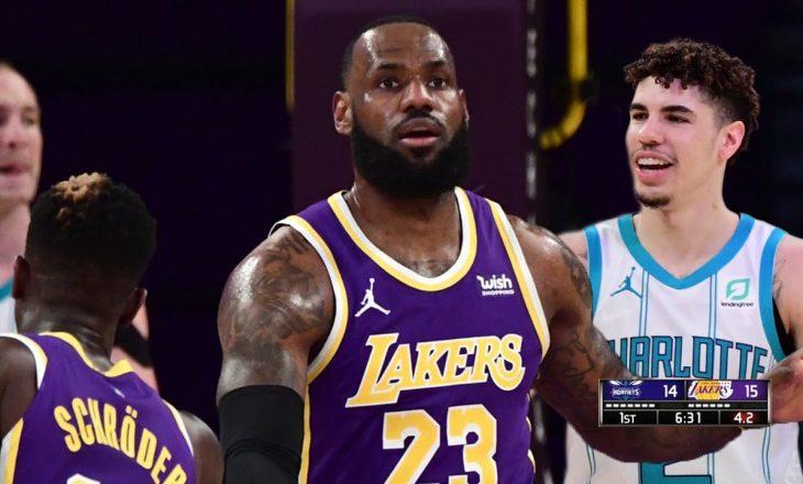 Lakers mposht Charlotte – rezultatatet në NBA