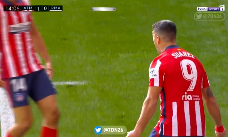 Luis Suarez kalon në epërsi Atleticon në derbin me Realin