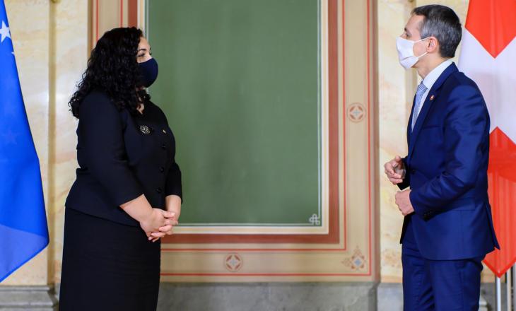 Osmani në takim me zv.presidentin e Zvicrës, diskutojnë për thellim të bashkëpunimit