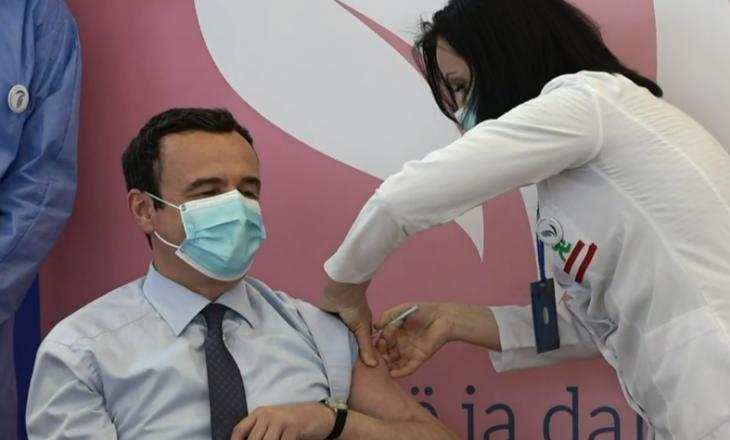 Kurti pas vaksinimit: S'jam këtu të shfrytëzoj privilegjin, por t'i inkurajoj qytetarët