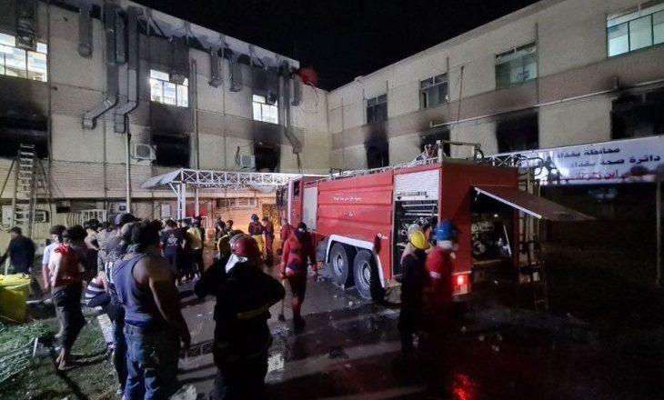 Në spitalin ku po trajtohen pacientët me COVID-19 në Irak, nga zjarri që përfshiu spitalin 35 persona kanë humbur jetën