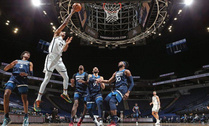 Brooklyn Nets mposht Minnesota Timberwolves – rezultatet në NBA