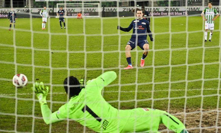 Kololli shënon gol për Zurich nga penalltia kundër St. Gallen