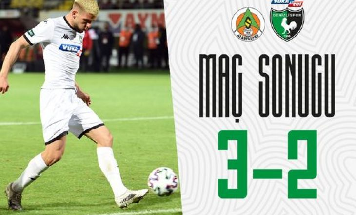 Veton Tusha shënon gol për Denizlispor në Turqi