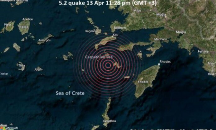 Greqia tronditet nga një tërmet prej 5.2 ballë të righterit