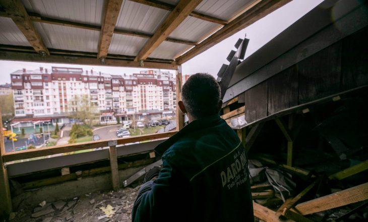 Rrënohet një mbindërtim ilegal në Prishtinë