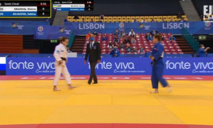 Distria Krasniqi kalon në finalen e Kampionatit Evropian të xhudos