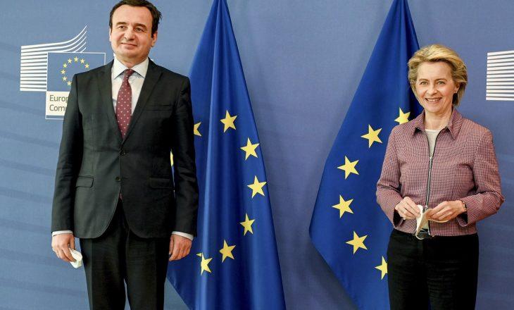 Kurti falënderon presidenten e Komisionit Evropian për ndihmën rreth vaksinave