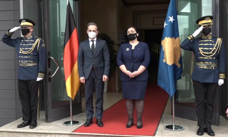 Osmani pret në takim Ministrin e Jashtëm gjerman, Maas