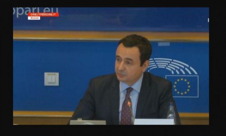 Kurti flet në PE për tri parime