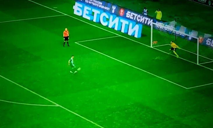 """Berisha humb penalltinë duke u munduar të shënonte """"Panenka"""" në Kupën e Rusisë"""