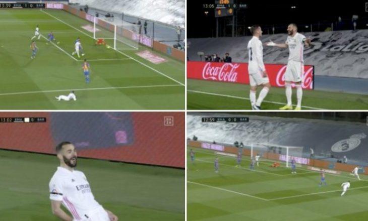 """Benzema kalon në epërsi Realin në """"El Classico"""""""
