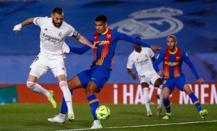 """Real Madrid e mbyll me kapital prej dy golash pjesën e parë në """"El Classico"""""""