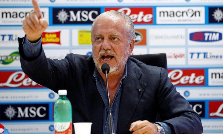Presidenti i Napolit kërcënon federatën italiane me bojkot nëse nuk kthehen tifozët në stadiume