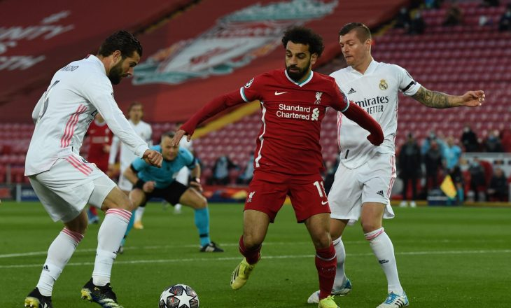 Liverpool dhe Real Madrid mbyllet pa gola, madrilenët kalojnë në gjysmëfinale