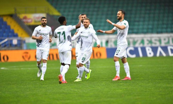 Cikalleshi shënon gol në humbjen e Konyasporit nga Rizespor në Superligën turke