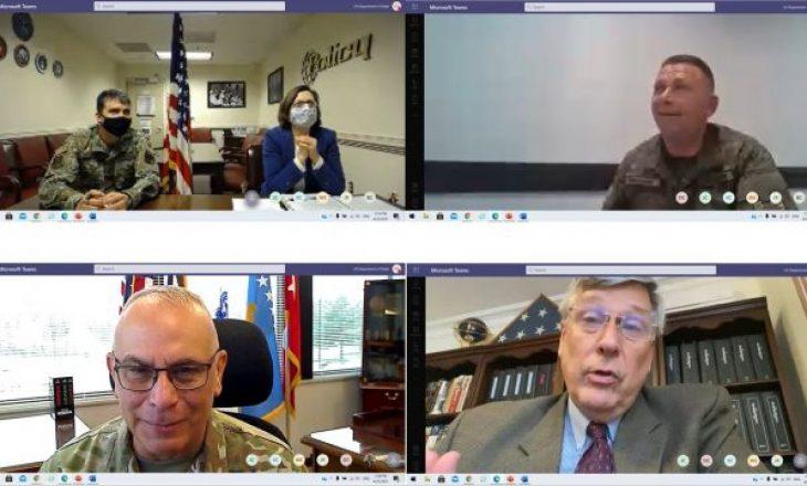 Kosnett e zyrtarja e Pentagonit diskutojnë me ministrin Mehaj për planin e transformimit të FSK-së