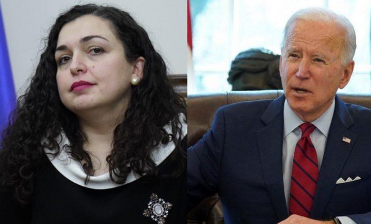 Biden i shkruan Osmanit për forcimin e sundimit të ligjit, ndihmën për vaksinat dhe dialogun