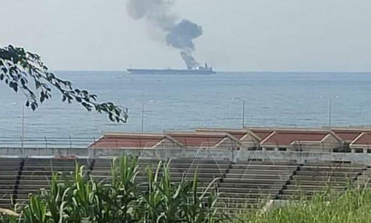 Zjarri në cisternën e naftës pranë Sirisë pas dyshimit mbi një sulm të mundshëm me dron ka lënë të vdekur tre persona