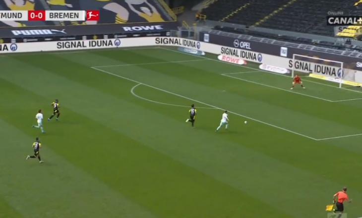 Rashica shënon gol për Bremenin ndaj Dortmundit