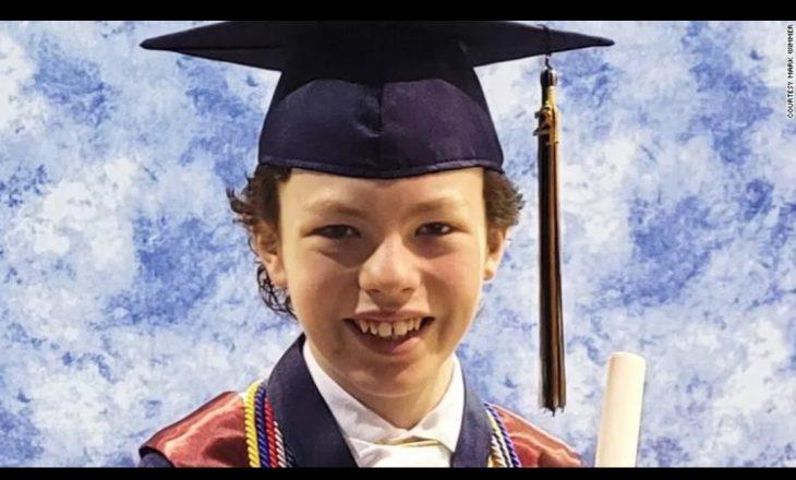 Ju prezantojmë me 12-vjeçarin që po përfundon shkollën e mesme dhe fakultetin në të njëjtën javë