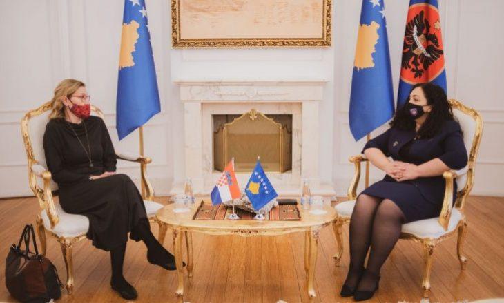 Ambasadorja kroate në takim me Presidenten Osmani, shfaq gatishmëri për bashkëpunim mes dy shteteve